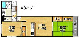 御崎久宝庵[2階]の間取り
