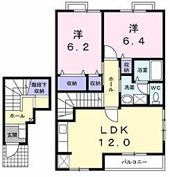 リス プランタンA[2階]の間取り