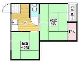 砂川荘[2階]の間取り