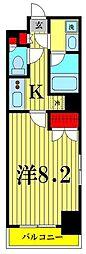 都営浅草線 本所吾妻橋駅 徒歩8分の賃貸マンション 7階1Kの間取り