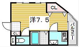 サンフローラル白鳩[3階]の間取り