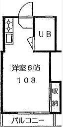 シャレー学芸大カワベ第3[1階]の間取り