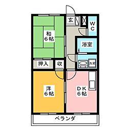 カームA[2階]の間取り