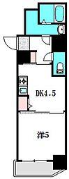 Osaka Metro谷町線 守口駅 徒歩1分の賃貸マンション 3階1DKの間取り