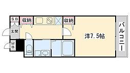 兵庫県神戸市灘区岩屋北町5丁目の賃貸マンションの間取り