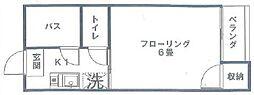 東京都中野区野方1丁目の賃貸アパートの間取り