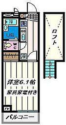 埼玉県草加市遊馬町の賃貸マンションの間取り