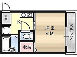 北園ハイツ[2階]の間取り