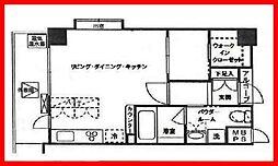東京都墨田区業平3丁目の賃貸マンションの間取り