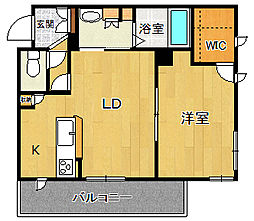 Maisonverte UMENOKI[3階]の間取り