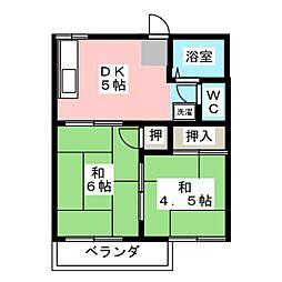 ハイツ三清[2階]の間取り