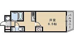 クレイドル西田辺[901号室]の間取り