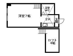 クィーン南5条[6階]の間取り