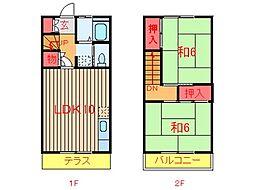 [テラスハウス] 千葉県船橋市咲が丘1丁目 の賃貸【/】の間取り