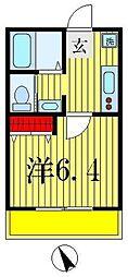 TK馬橋コーポ[1階]の間取り