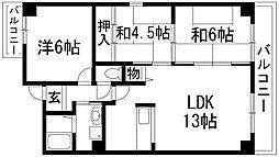 ソアール門戸荘[5階]の間取り