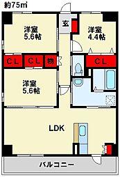 Livableなかま 2階3LDKの間取り