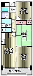 ギャラリーコート三国ヶ丘[2階]の間取り