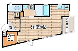兵庫県神戸市長田区平和台町3丁目の賃貸アパートの間取り