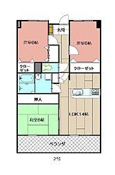 アビタシオン・オキ[9階]の間取り