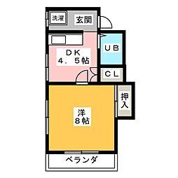 ハウスKEI[2階]の間取り