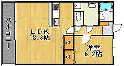 ネオ桜坂[2階]の間取り