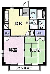ニューシティ協和[1階]の間取り
