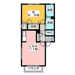 パラシオンワシヅ[1階]の間取り