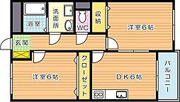 グリーンビルナカムラ本城II[5階]の間取り