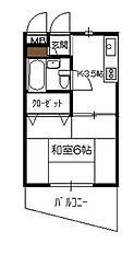 砂田アパート[202号室]の間取り
