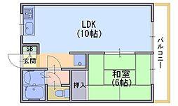 和泉殿ハイツ[5階]の間取り