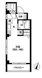 コアロード桜 2階ワンルームの間取り