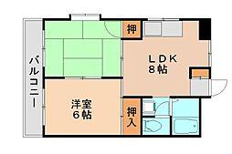 メモリープラザ吉塚[3階]の間取り
