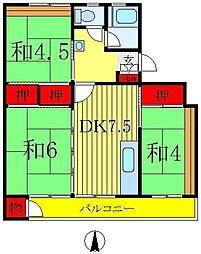 森田マンション1号棟[5階]の間取り