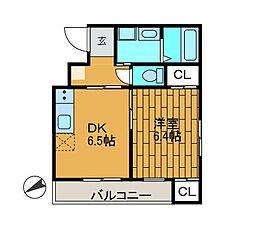 エッチエス2[3階]の間取り