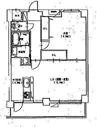 アグレアブル[2階]の間取り