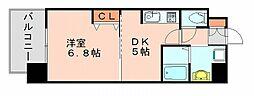 エフパルク博多駅南[4階]の間取り