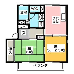 クレールA[2階]の間取り