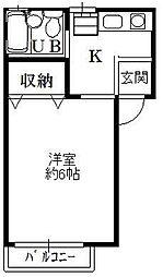 サンライフ甲田[2階]の間取り