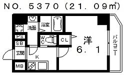 グランパシフィック今宮[8階]の間取り