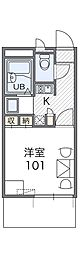 JR阪和線 我孫子町駅 徒歩14分の賃貸マンション 3階1Kの間取り