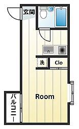 メゾン・ド・ミニヨン[3階]の間取り