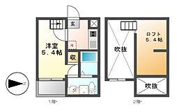 Xevi Flat[1階]の間取り
