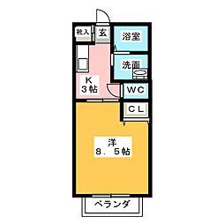 メゾン・コンフォール[2階]の間取り