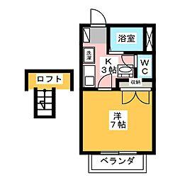 柴田ハイツA[2階]の間取り