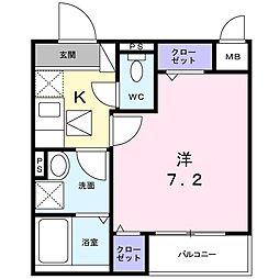 ロイヤルレスト川崎[1階]の間取り