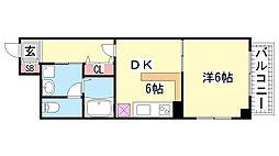 マリス神戸WING[2階]の間取り