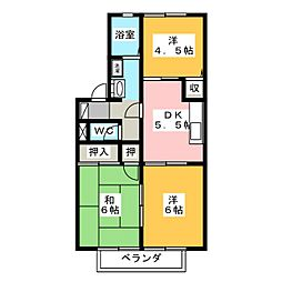 ランセN[1階]の間取り