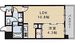 アールオーハイム松崎町[602号室]の間取り