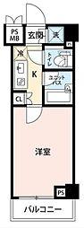 ルーブル品川西大井[2階]の間取り